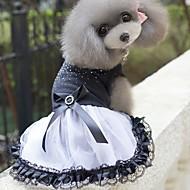 كلاب الفساتين ملابس الكلاب أسود كوستيوم بوليستر ألوان متناوبة الزفاف XS S M L XL XXL