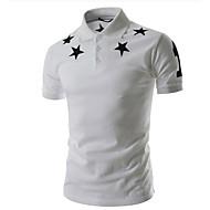 Men's Graphic Polo Daily Shirt Collar White / Black / Gray / Short Sleeve