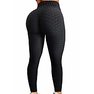 cheap -Women's High Waist Yoga Pants Jacquard Ruched Butt Lifting Fashion Purple Red Dusty Rose Dark Black Pink Spandex Running Fitness Gym Workout Tights Leggings Sport Activewear Push Up Tummy Control