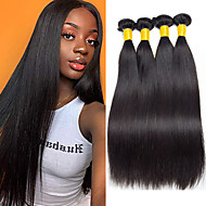 3 Bundles Brazilian Hair Straight Human Hair Human Hair Extensions 8-28 inch Natural Color Human Hair Weaves Hot Sale Shedding Free Tangle Free Human Hair Extensions / 8A