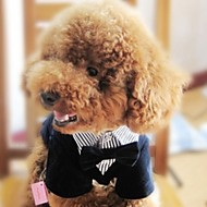 Dogs Suit Dog Clothes Black Costume Baby Small Dog Polyster Striped Wedding XS S M L XL XXL