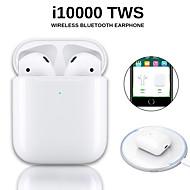 povoljno -originalni i10000 tws bežične slušalice bluetooth 5.0 slušalice touch touch prijenosne sportske slušalice bežične qi napune provjerite automatsko otkrivanje uha i zaustavite skočni prozor s ios