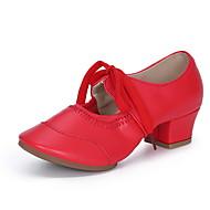 Women's Dance Shoes PU Modern Shoes Sneaker Thick Heel Black / Gold / Silver / Performance