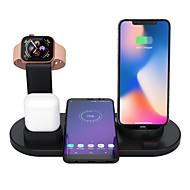 저렴한 -3 in 1 무선 충전기 Apple Airpods 충전기 Apple Watch 스탠드 빠른 다중 장치 무선 충전 스테이션 호환 iPhone 11 Pro Max / X / XR / XS Max / 8 / 7 / 6 / Samsung / huawei