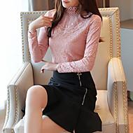 Women's Daily Weekend Vintage / Elegant Shirt - Floral Lace / Patchwork Black