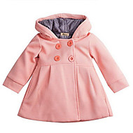 Baby Girls' Basic Solid Colored Trench Coat Blushing Pink