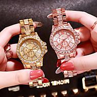 billiga -Dam Lyxiga Klockor Diamond Watch guldklocka Quartz damer Rostfritt stål Silver / Guld / Rosguld Ramtyp - Rosguld Guld Silver / Japanska / Japanska