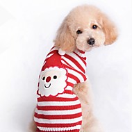 Dogs Sweater Winter Dog Clothes Red Costume Corgi Beagle Shiba Inu Acrylic Fibers Stripes Character Halloween Christmas XXS XS S M L XL