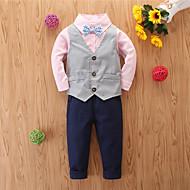 Toddler Chlapecké Základní Ležérní Tisk Dlouhý rukáv Standardní Standardní Sady oblečení Světlá růžová