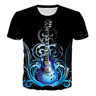 preiswerte -Herrn Geometrisch / 3D / Grafik - Grundlegend / Rockig T-shirt Druck Schwarz