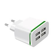 Χαμηλού Κόστους -Γρήγορος φορτιστής Φορτιστής USB Ευρωπαϊκή Πρίζα Πολλαπλοί έξοδοι 4 θύρες USB 4 A 100~240 V για Universal