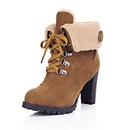Women's Boots Chunky Heel Round Toe PU Booties / Ankle Boots Fall & Winter Black / Brown / Yellow