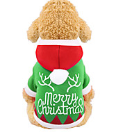 Dogs Cats Hoodie Vest Christmas Winter Dog Clothes Green Costume Husky Labrador Alaskan Malamute Polyester Canvas Mixed Material Christmas XS S M L XL XXL