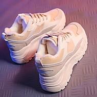 ราคาถูก -สำหรับผู้หญิง รองเท้ากีฬา ส้นต่ำ ปลายกลม ยาง / ขนเทียม สำหรับวิ่ง ฤดูหนาว สีดำ / ขาว / ฟ้า