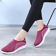 ราคาถูก -ทุกเพศ รองเท้ากีฬา ส้นแบน ปลายกลม ผ้าใบ สำหรับวิ่ง ฤดูใบไม้ร่วง & ฤดูหนาว สีม่วง / แดง / ฟ้า