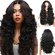 Synthetic Wig Curly Body Wave Middle Part Wig Long Black#1B Synthetic Hair 26inch Women's Heat Resistant Synthetic Easy dressing Black / Natural Hairline / African American Wig / Natural Hairline