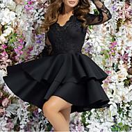 Women's A Line Dress - Solid Colored Black M L XL XXL