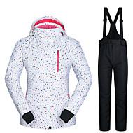 povoljno -MUTUSNOW Žene Skijaška jakna i hlače Vodootporno Vjetronepropusnost Toplo Skijanje Snowboarding Zimski sportovi Poliester Sportska odijela Skijaška odjeća / Zima