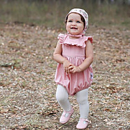 Bodysuit كم قصير لون سادة للفتيات طفل