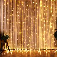 povoljno -1pcs 3 * 3m led icicle vodio zavjese vila stringllight vilinsko svjetlo 300 vodio božićno svjetlo za vjenčanje ukrasne kuće za dom prozora