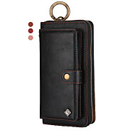 Multifunction Wallet Genuine Leather Case For iPhone 11 Pro Max XR XS Max 8 Plus 7 Plus 6 Plus Shockproof Solid Colored Cases