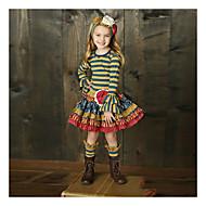 preiswerte -Kinder Mädchen Grundlegend Gestreift Langarm Kleidungs Set Regenbogen