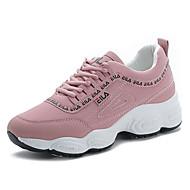 ราคาถูก -สำหรับผู้หญิง รองเท้ากีฬา ส้นแบน ที่ปิดนิ้วเท้า PU หวาน / minimalism ฤดูร้อนฤดูใบไม้ผลิ / ฤดูใบไม้ร่วง & ฤดูหนาว สีดำ / ขาว / สีชมพู
