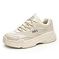 ราคาถูก -สำหรับผู้หญิง รองเท้ากีฬา ส้นแบน ปลายกลม เลื่อม PU Sporty / Preppy สำหรับวิ่ง / วสำหรับเดิน ฤดูร้อนฤดูใบไม้ผลิ / ฤดูใบไม้ร่วง & ฤดูหนาว สีดำ / ขาว / ผ้าขนสัตว์สีธรรมชาติ