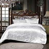 Vente chaude maison literie ensemble jacquard housse de couette ensemble 3 pcs literie luxueuse literie reine roi taille lit ensembles blanc sans drap