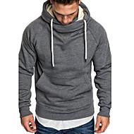 Men's Basic Hoodie - Solid Colored Black US32 / UK32 / EU40