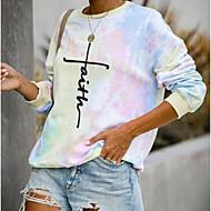 Women's Daily T-shirt - Letter Rainbow