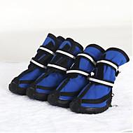 Perro Zapatos y Botas A Prueba de Agua Mantiene abrigado Un Color Para mascotas Tejido Rojo / Invierno