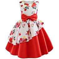 فستان بدون كم ورد زهر للفتيات أطفال