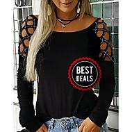 preiswerte -Damen Solide T-shirt Schwarz