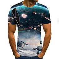 Men's Daily T-shirt - 3D Blue