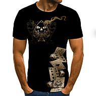 Bărbați Mărime Plus Size #D Grafic Imprimeu Tricou De Bază Zilnic Ieșire Rotund Negru / Manșon scurt