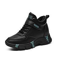 ราคาถูก -สำหรับผู้หญิง รองเท้ากีฬา ส้นแบน ปลายกลม PU ไม่เป็นทางการ / รองเท้าพ่อ สำหรับวิ่ง / การออกกำลังกายและการฝึกอบรมข้าม ฤดูใบไม้ผลิ / ฤดูใบไม้ร่วง & ฤดูหนาว สีดำ / สีดำ / สีแดง