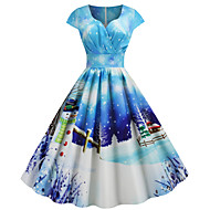 Audrey Hepburn Dress Women's Adults' Christmas Christmas Christmas Polyester Dress