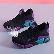 ราคาถูก -สำหรับผู้หญิง รองเท้ากีฬา ส้นแบน ปลายกลม ตารางไขว้ สำหรับวิ่ง ฤดูใบไม้ร่วง & ฤดูหนาว สีม่วง / แดง / ลายบล็อคสี