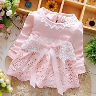 فستان كم طويل لون سادة للفتيات طفل
