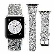 cheap -Apple Watch Leather Band 38mm 40mm 42mm 44mm Woman Bling Glitter Strap Replacement iWatch Series 5 4 3 2 1 Sport Edition