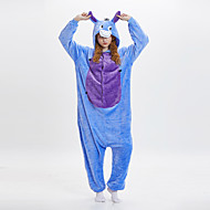 Adults' Kigurumi Pajamas Donkey Onesie Pajamas Flannel Fabric Blue Cosplay For Men and Women Animal Sleepwear Cartoon Festival / Holiday Costumes