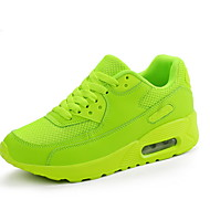 ราคาถูก -สำหรับผู้หญิง รองเท้ากีฬา ส้นแบน ปลายกลม PU สำหรับวิ่ง ฤดูหนาว สีดำ / ขาว / สีเขียว