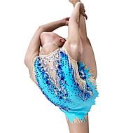 povoljno -Triko za ritmičku gimnastiku Trikoi za ritmičku gimnastiku Žene Djevojčice Triko za vježbanje Sky blue Spandex Visoka elastičnost Ručno izrađen Jeweled Izgled dijamanta Bez rukávů Natjecanje Plesne