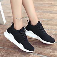ราคาถูก -สำหรับผู้หญิง รองเท้ากีฬา ส้นแบน ปลายกลม ฝ้าย ฤดูร้อน สีดำ / ขาว / สีชมพู
