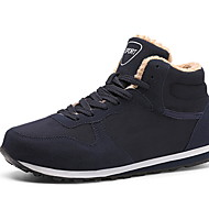 Men's Comfort Shoes Cowhide Winter Athletic Shoes Running Shoes Black / Blue