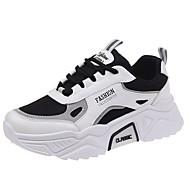ราคาถูก -สำหรับผู้หญิง รองเท้ากีฬา ส้นแบน ปลายกลม ผ้าใบ สำหรับวิ่ง ฤดูใบไม้ร่วง & ฤดูหนาว สีดำ / สีชมพู / ผ้าขนสัตว์สีธรรมชาติ