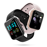 Couple's Smartwatch Digital Stylish Silicone Black / Silver / Pink 30 m Heart Rate Monitor Bluetooth Smart Digital Fashion - Black Pink Silver One Year Battery Life