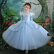 Cinderella Dress Masquerade Girls' Movie Cosplay Cosplay Halloween Light Blue Dress Halloween Carnival Masquerade Tulle Polyester