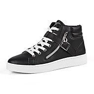 Men's Comfort Shoes PU Winter Sneakers Black / White